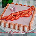 Bavarois fraise et chocolat {pour un dessert de pâques gourmand et fruité}