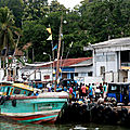 Retour de pêche à tangalle, au sri lanka