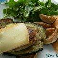 Poulet, aubergine et migneron, sans gluten