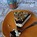 Gâteau choco-mangue