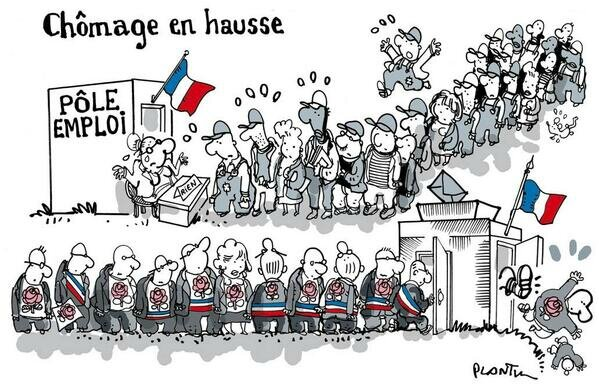 hollande ps humour chomage