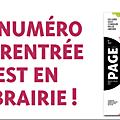 Concours PAGE des libraires : des exemplaires du numéro spécial <b>rentrée</b> 2021