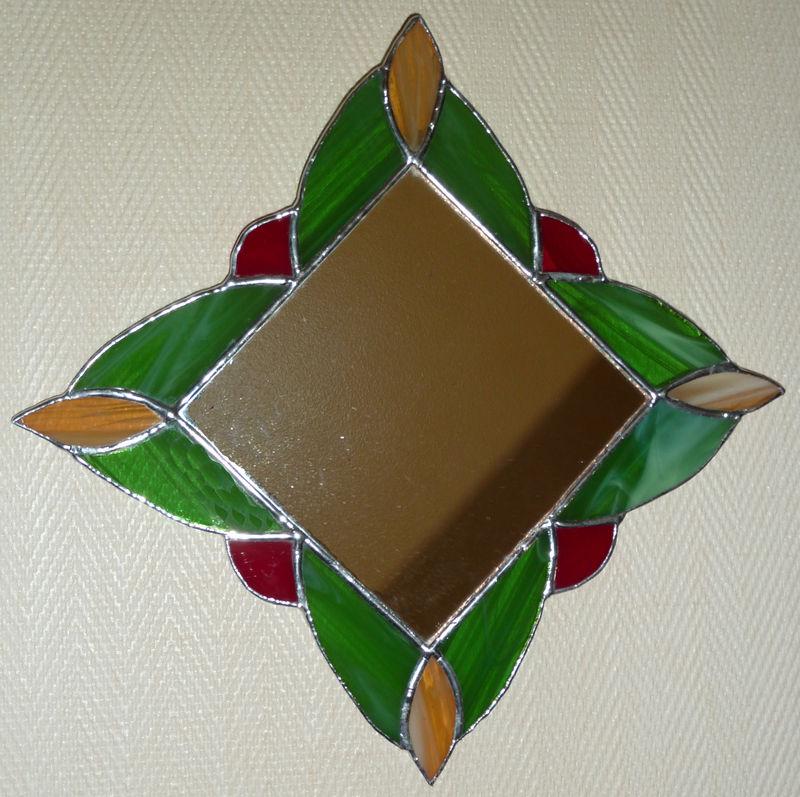 Miroir carré en losange