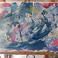 Une aquarelle sur toile