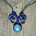 Collier elfique bleu Z (14)