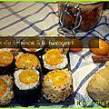 Makis de tapioca au lait d'amande et à la kumquat {vegan}