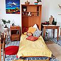 <b>Ancien</b> meuble lit pliant à fixer au mur gain de place assuré Déco vintage - Marque Polymeuble