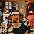 1525 Joos van CLEVE : Annonciation (Met)