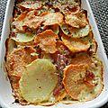 Gratin de patate douce aux lardons