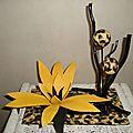 Harmonie de fleur en <b>boite</b> imprimé léopard