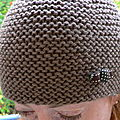 Bonnet marron chic
