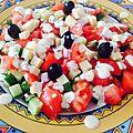 Salade fraîcheur concombre sauce yaourt