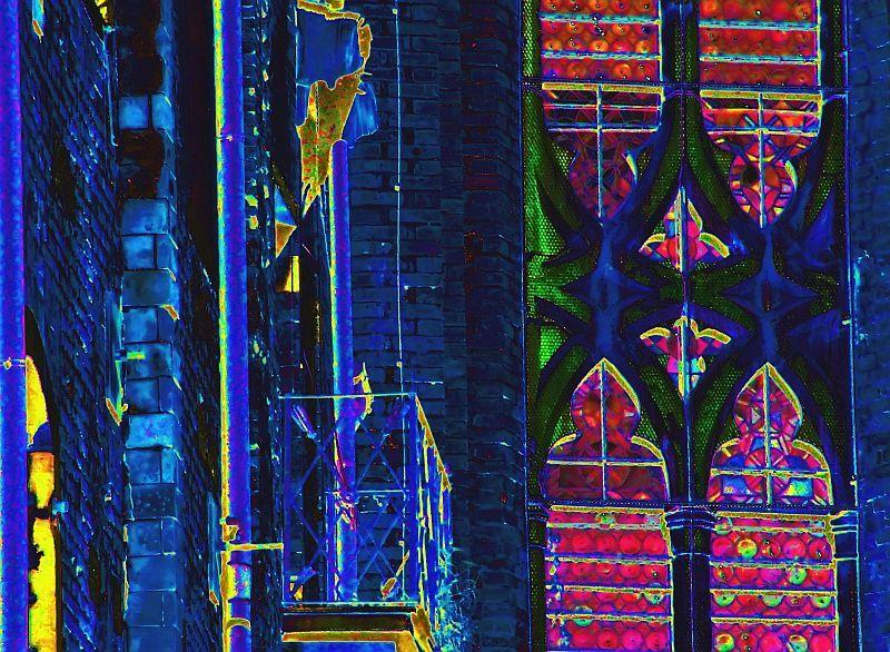 venise-linge au balcon & vitrail