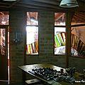 séparation entre une cuisine et le salon