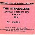 The stranglers - vendredi 6 octobre 1978 - bataclan (paris)