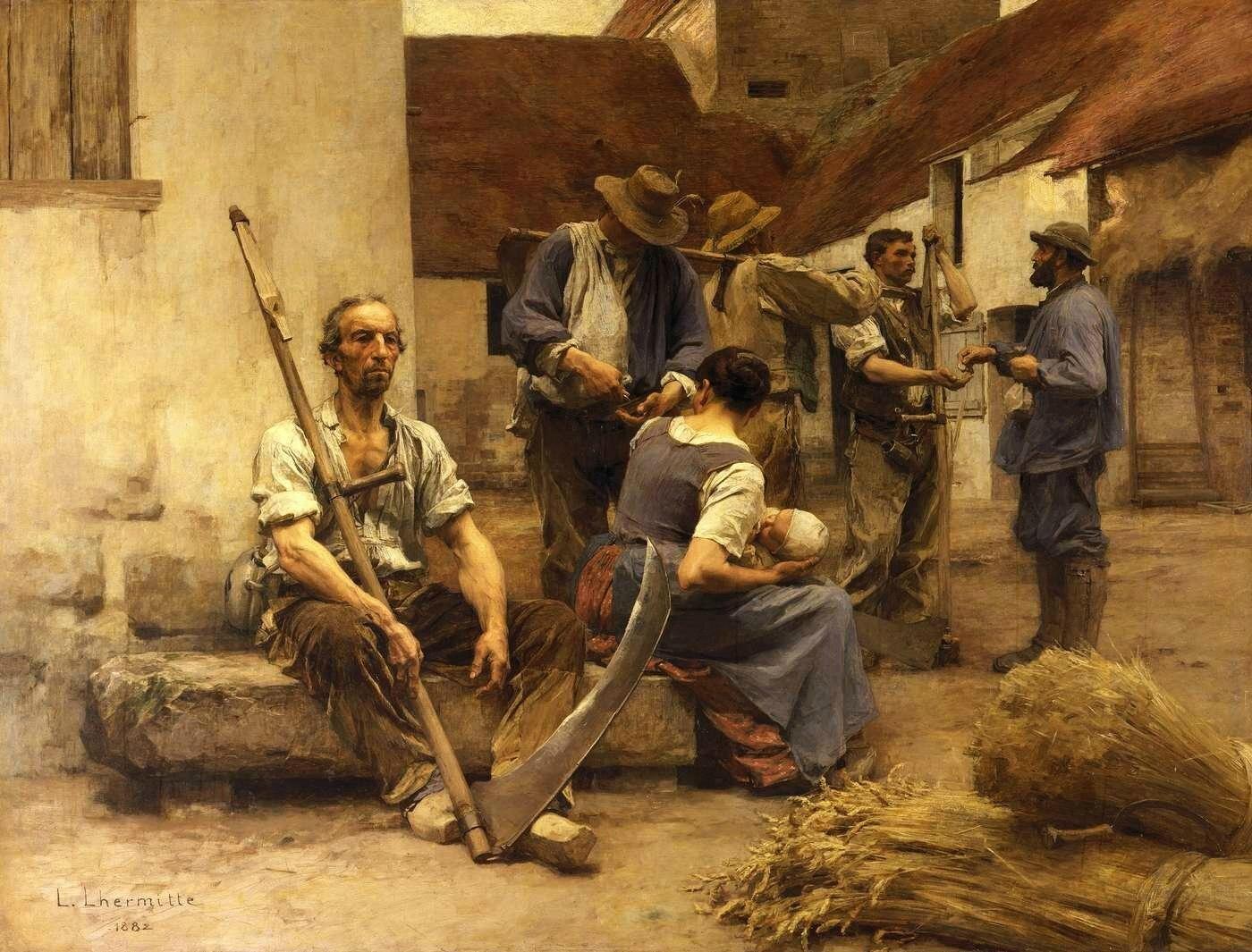 La Paye des moissonneurs - Léon LHERMITTE – 1882