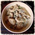 Wok de poulet aux fèves fraîches