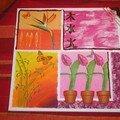 challenge en collage de serviettes et peinture