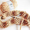 Snood tricoté au point de riz
