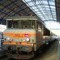 BB 7277 en tête du train de nuit Hendaye~Genève, gare de Dax