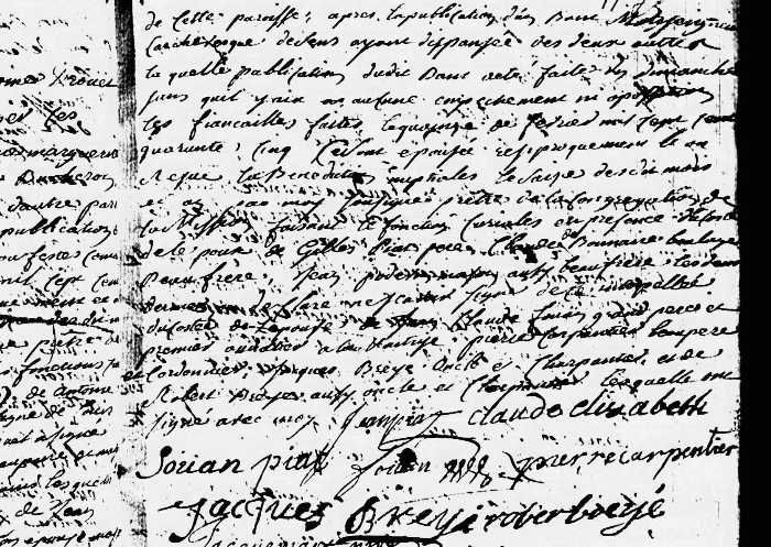 Piat Jean & Fouan Claude Elisabeth_Mariage 1745_p2
