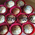 Muffins chocolat blanc, noix de pécan et sirop d'érable