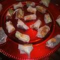 Rouleau d'hiver au foie gras et chutney de mangues