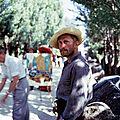 1956, <b>Kirk</b> Douglas sur le tournage de Van Gogh