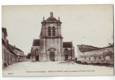 60 - TRACY LE MONT - Place de l'église
