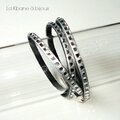 Bracelets 3 tours strassés