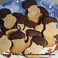 Spicy chocolate christmas stockings ou chaussettes de noël épicées et moumoute en chocolat