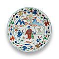 A wucai 'Immortal' dish, <b>Wanli</b> <b>six</b>-<b>character</b> <b>mark</b> <b>and</b> <b>of</b> <b>the</b> <b>period</b> (<b>1573</b>-<b>1620</b>)