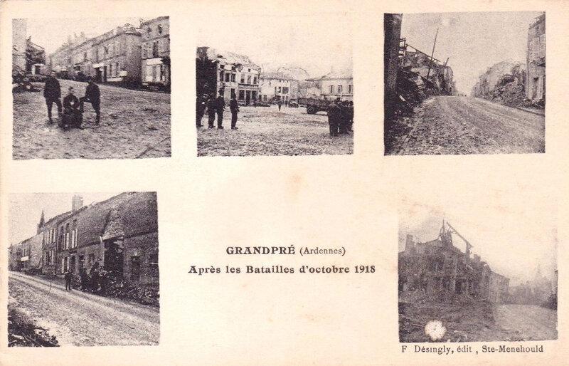 Grandpré, après batailles octobre 1918