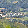 La vallée d'Aspe, RN 134, à Bedous, depuis Serrot de Bouch...