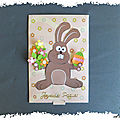 Pas à pas de carte animée et son modèle à imprimer : le lapin de Pâque
