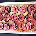 Tarte vanillée aux figues, avec une touche de gingembre.