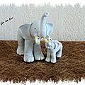 Maman éléphant et son bb 1