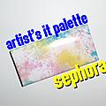Artist's it palette - la palette barbe à papa de sephora !