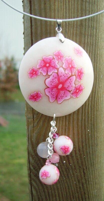 pendentif sakura