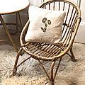 Petit <b>fauteuil</b> en rotin