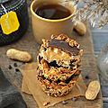 Granola cups au beurre de <b>cacahuète</b> & chocolat #vegan