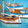 06 - Janvier 03 - Barques Provencales - Huile sur toile