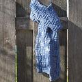 Quelques exemples de réalisations de l'écharpe basketweave.