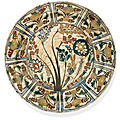 A kubachi pottery dish, probably tabriz, north west iran, 17th century