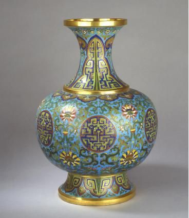 cloisonn vase china qing dynasty qianlong period 1736 1795 alain r truong. Black Bedroom Furniture Sets. Home Design Ideas