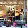 Clocréations à la galerie cyème du 16 au 21 février 2015