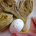 artichauts à l'huile d'olive comme dans les Pouilles
