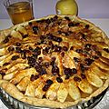 Recette facile de la tarte aux pommes/raisins secs et griottines