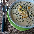 Soupe de haddock à la patate douce