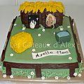 Gâteau box de chevaux
